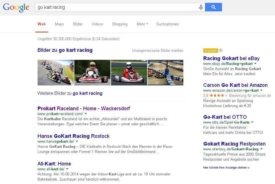 Google-Suche nach Keyword